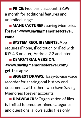 Saving Memories Forever information